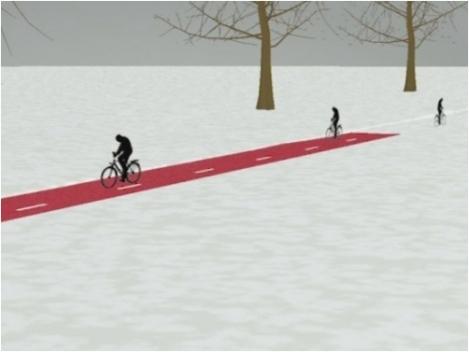 Reactive road snow
